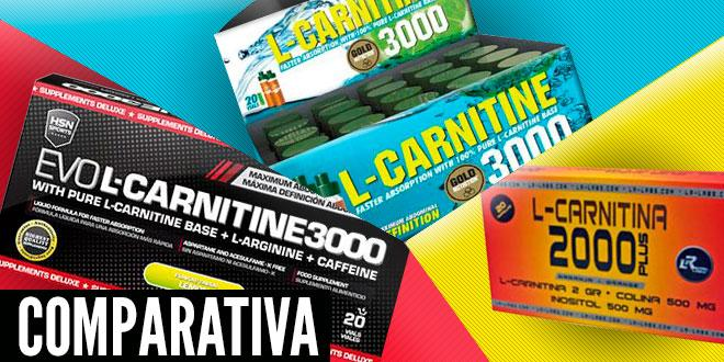Comparativa: EVOL-Carnitine 3000mg VS L-CARNITINA 3000mg de Gold Nutrition VS L-CARNITINA 2000 de LR Labs
