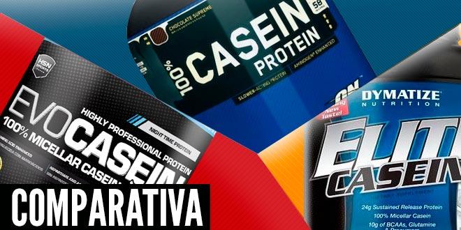 Comparativa: Evocasein, 100% Casein Gold Standard y Elite Casein