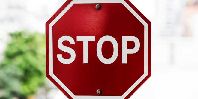 Señal Stop Prohibido