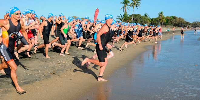 Triathlon phase de natation