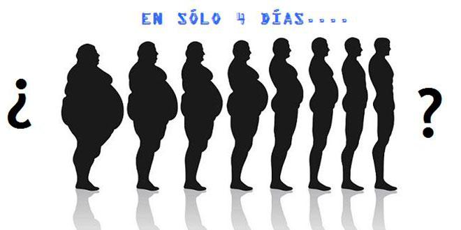 Perder 2 kg en 4 días es posible (más consideraciones)