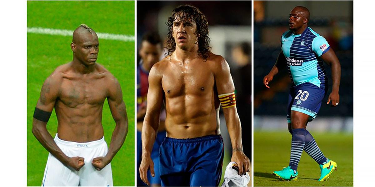Ejemplos de tipos de cuerpo de futbolistas