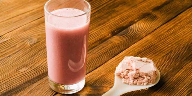 Batido de proteína de sabores para elegir