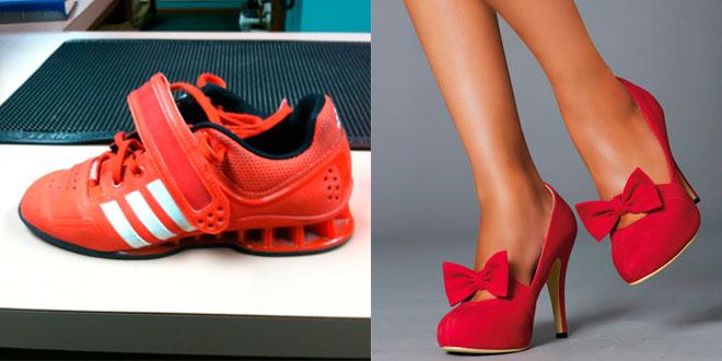 Cambios funcionales por el uso de zapatillas de halterofilia y zapatos de tacón