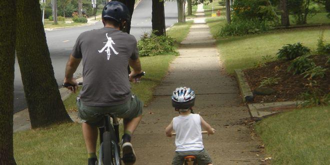 Bicicleta Padre e Hijo