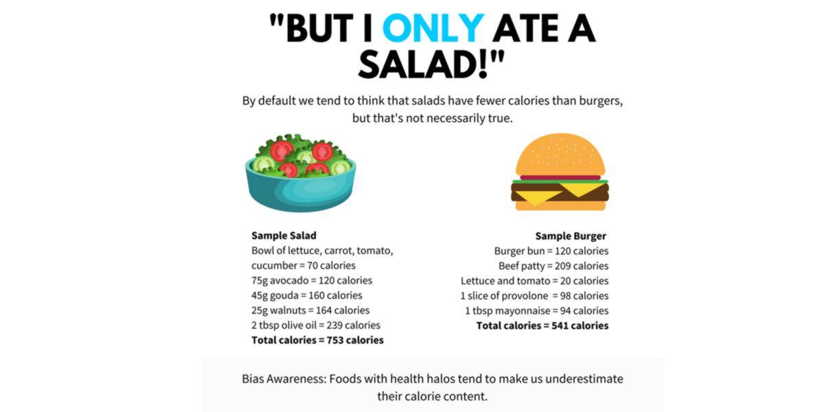 Infraestimar calorías
