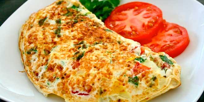 Desayuno con huevos para adelgazar