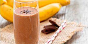 smoothie chocolate y plátano