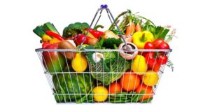 Cesta de la compra saludable