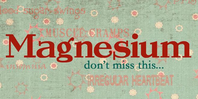 A importància do magnésio