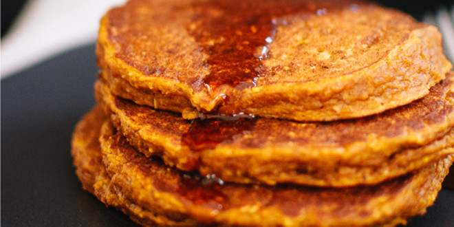 Oat Pancakes with Sweet Potato