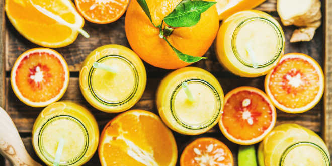 Naranja, zuma, reemplazo lácteos
