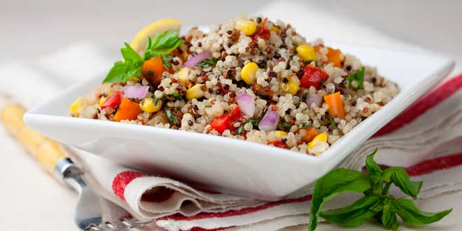 Ensalada de Quinoa de Colores Sin Gluten