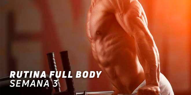 Rutina Full Body para Hipertrofia. Semana 3