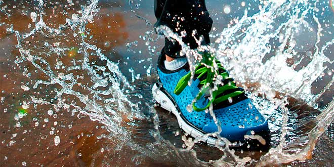 Correr y Lluvia