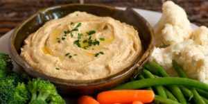 Receta de Hummus con Verduras para Dipear