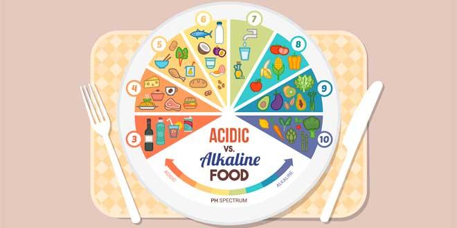 Diagrama Alimentos Alcalinos Vs Ácidos