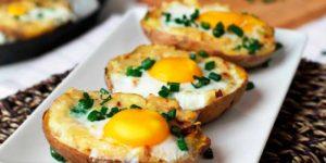 Receta Patata Asada con Huevo