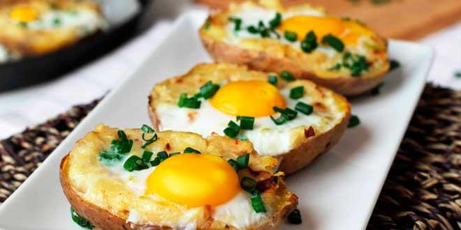Patata Asada con Huevo