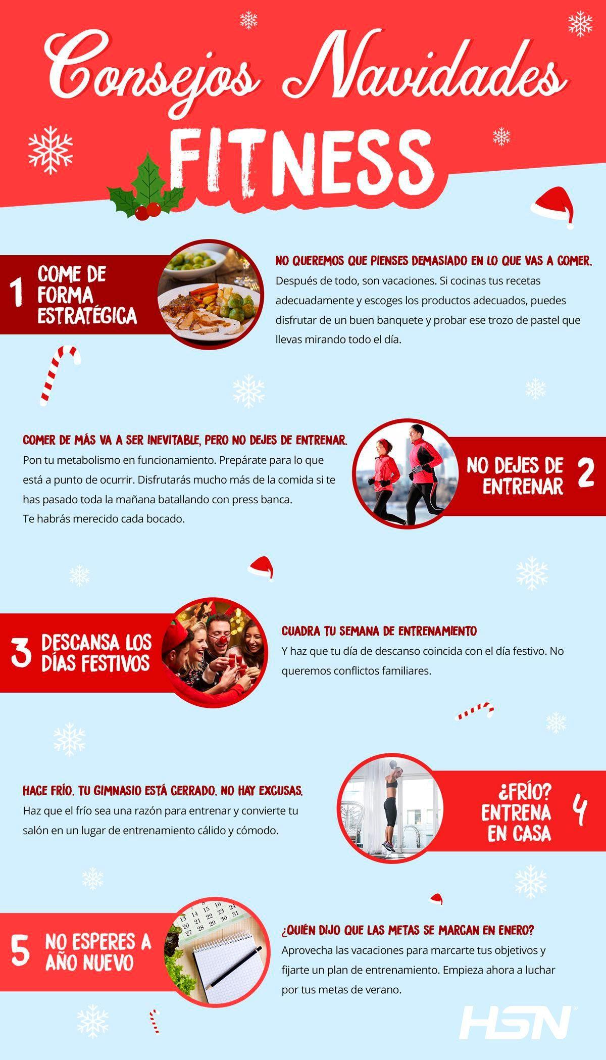 Consejos fitness Navidad