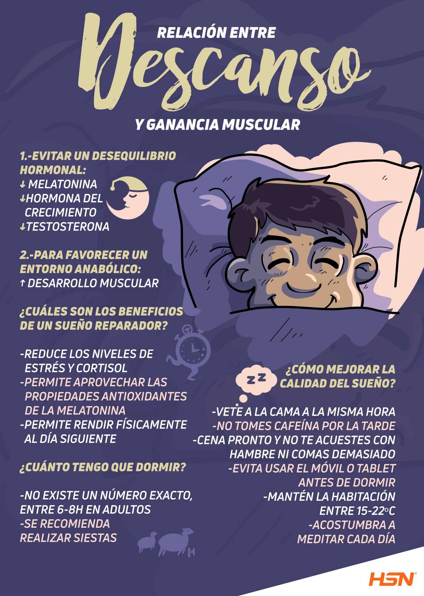 Dormir correctamente te ayuda a incrementar el volumen de