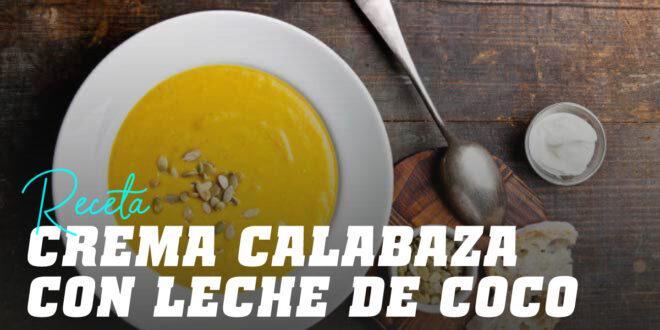 Crema de Calabaza con Leche de Coco