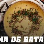 Receta de Crema de Batata con Lentejas
