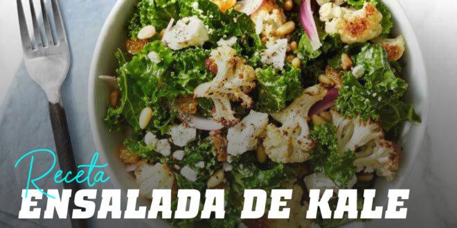 Ensalada de Kale con Coliflor y Piñones