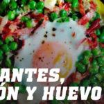 Receta de Guisantes con Jamón Serrano y Huevo