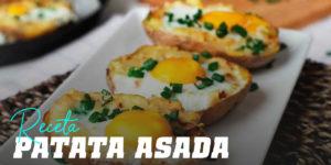 Receta de Patata Asada con Huevo