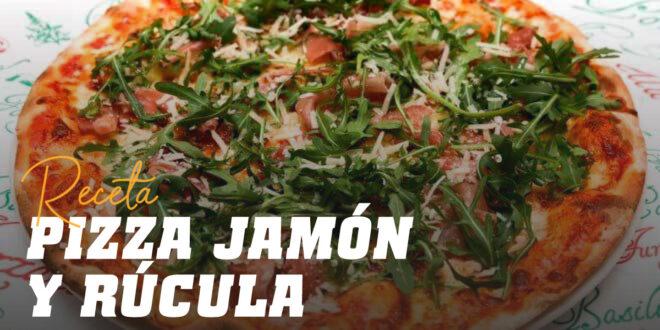 Pizza con Jamón Serrano, Mozarella y Rúcula
