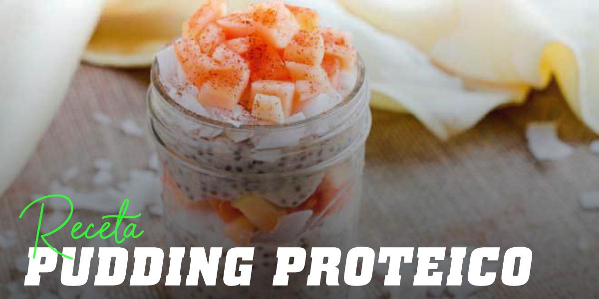 Pudding Proteico con Leche de Coco, Semillas de Chía y Papaya
