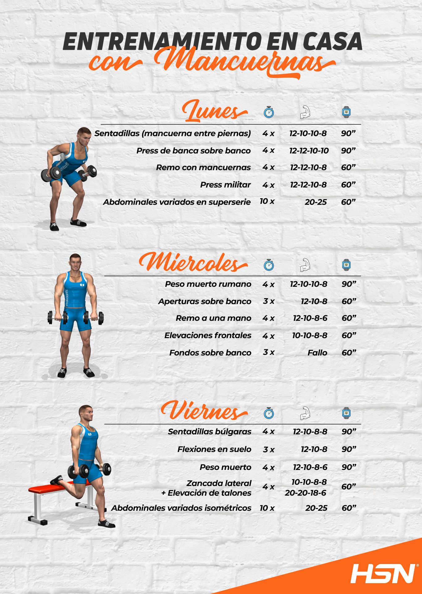 rutina de ejercicios casera para hombres