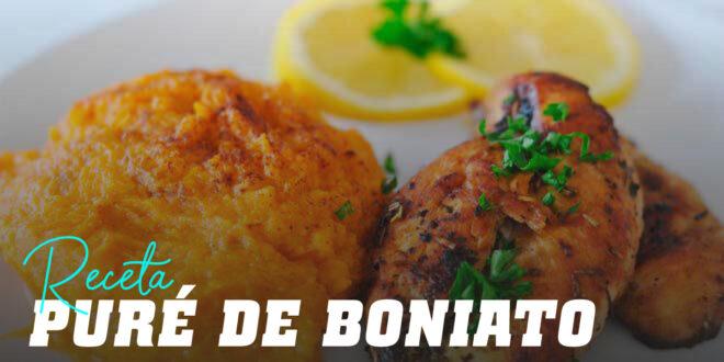 Puré de Boniato y Pechuga de Pollo
