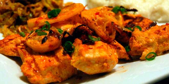 Pollo marinado