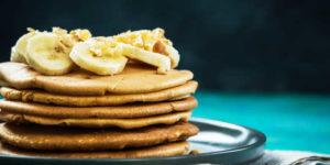 Tortitas de Avena, clara de huevo y plátano