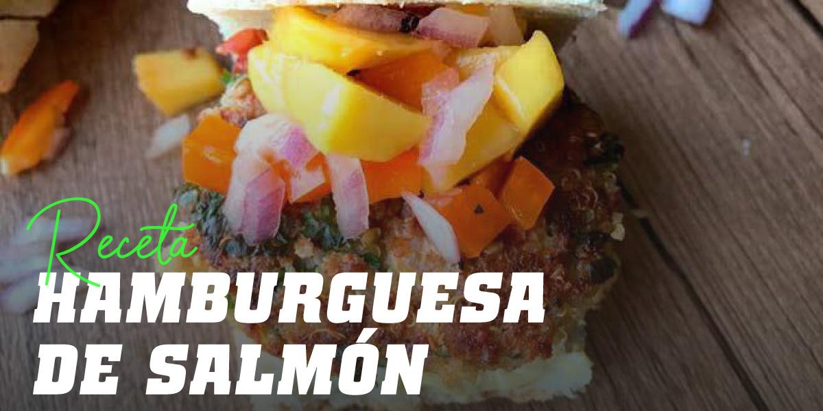 Hamburguesa de Salmón con Mango