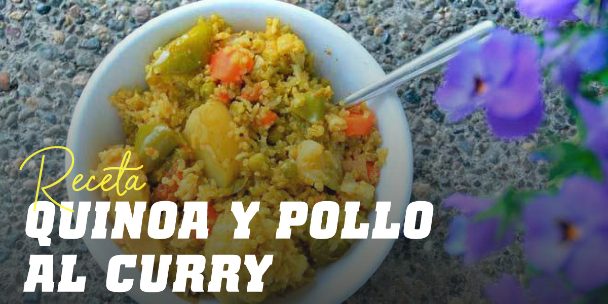 Quinoa con Pollo al Curry