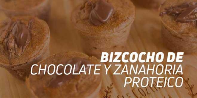 Bizcocho de Chocolate y Zanahoria Alto en Proteínas