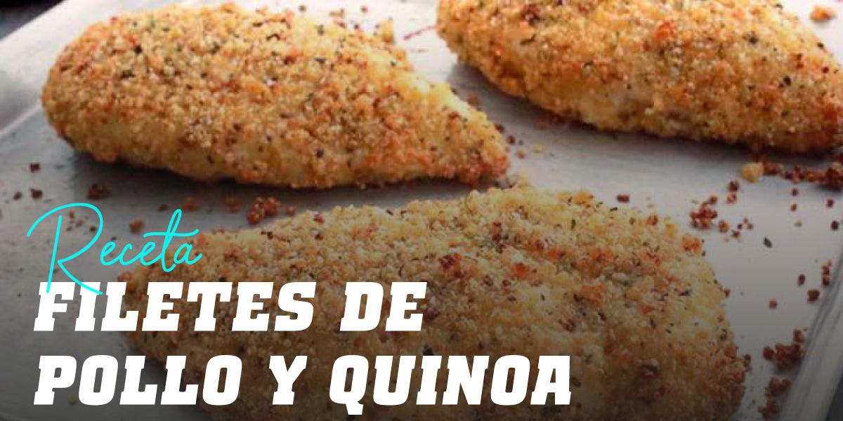 Filetes de Pollo Crujientes con Quinoa