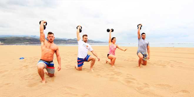 Cómo entrenar en la playa estas vacaciones