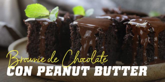 Brownie de Chocolate con Peanut Butter