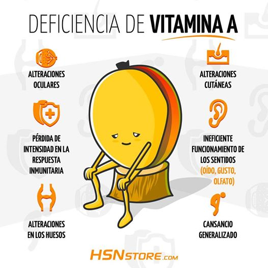 deficiencia vitamina a