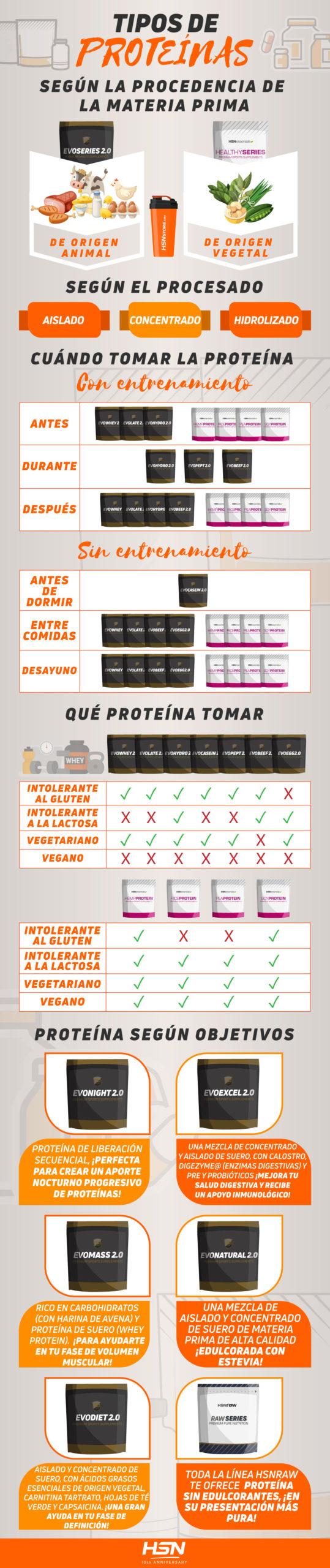 Infografía Tipos de Proteínas
