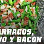 Receta de Espárragos, Huevo y Bacon
