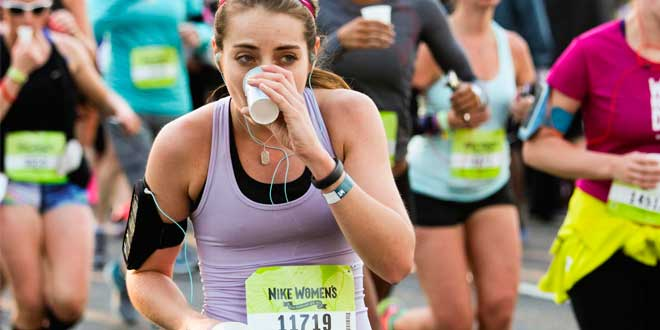 Hidratacion durante la carrera