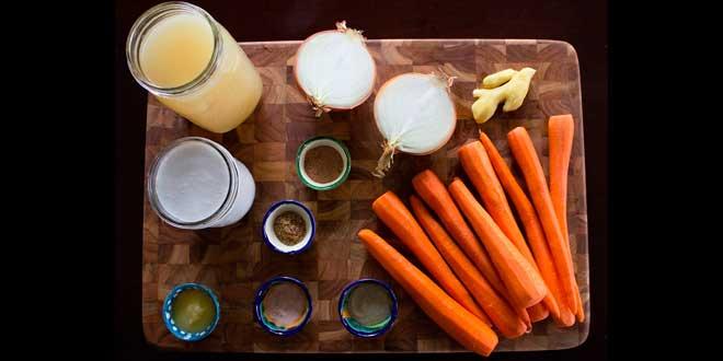 Sopa de Zanahoria con Leche de Coco