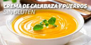 Crema de Calabaza y Puerros Sin Gluten