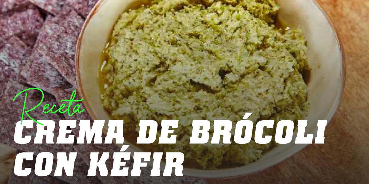 Crema fría de brócoli con Kéfir