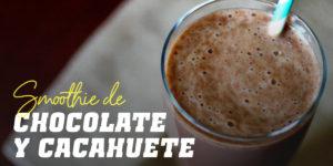 smoothie de chocolate y cacahuete